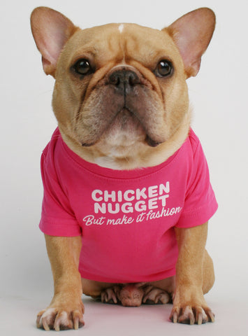 Chicken Nugget Fashion Dog Tee