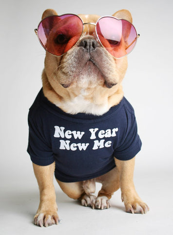 New Year New Me Dog Tee
