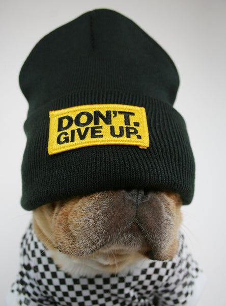 DON'T GIVE UP BEANIE