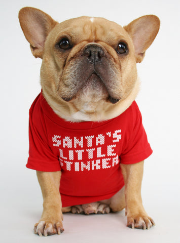 SANTA'S LITTLE STINKER DOG TEE