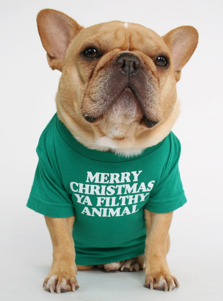MERRY CHRISTMAS YA FILTHY ANIMAL DOG TEE