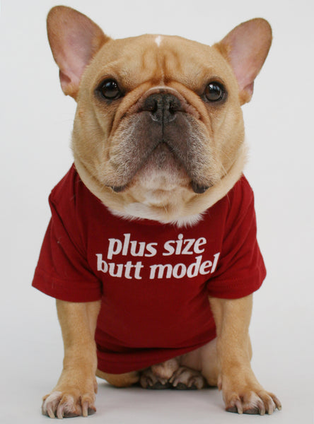 Plus Size Butt Model Dog Tee