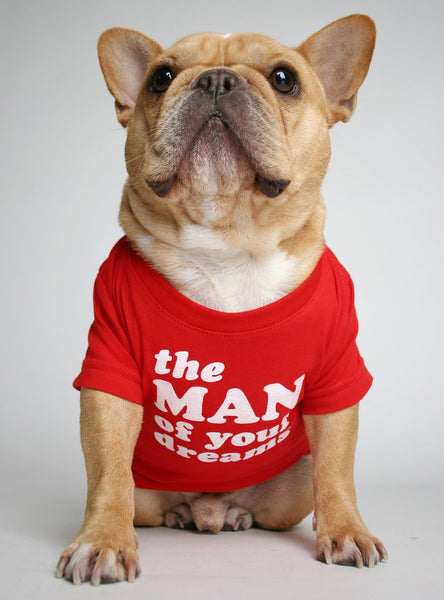 The Man Of Your Dreams Dog Tee