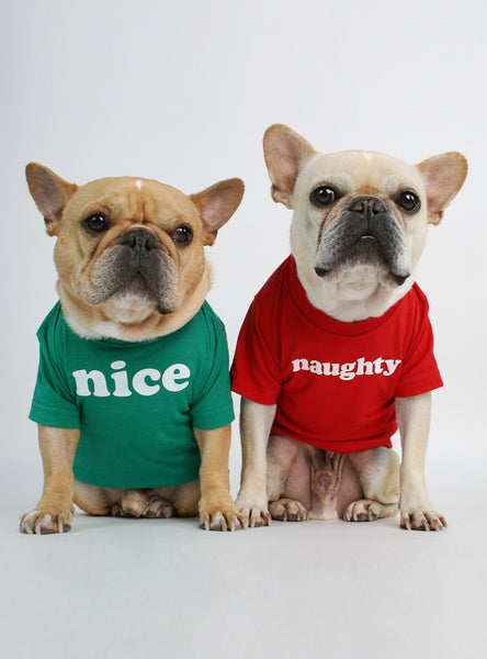 Naughty + Nice (2-Pack) Dog Tee