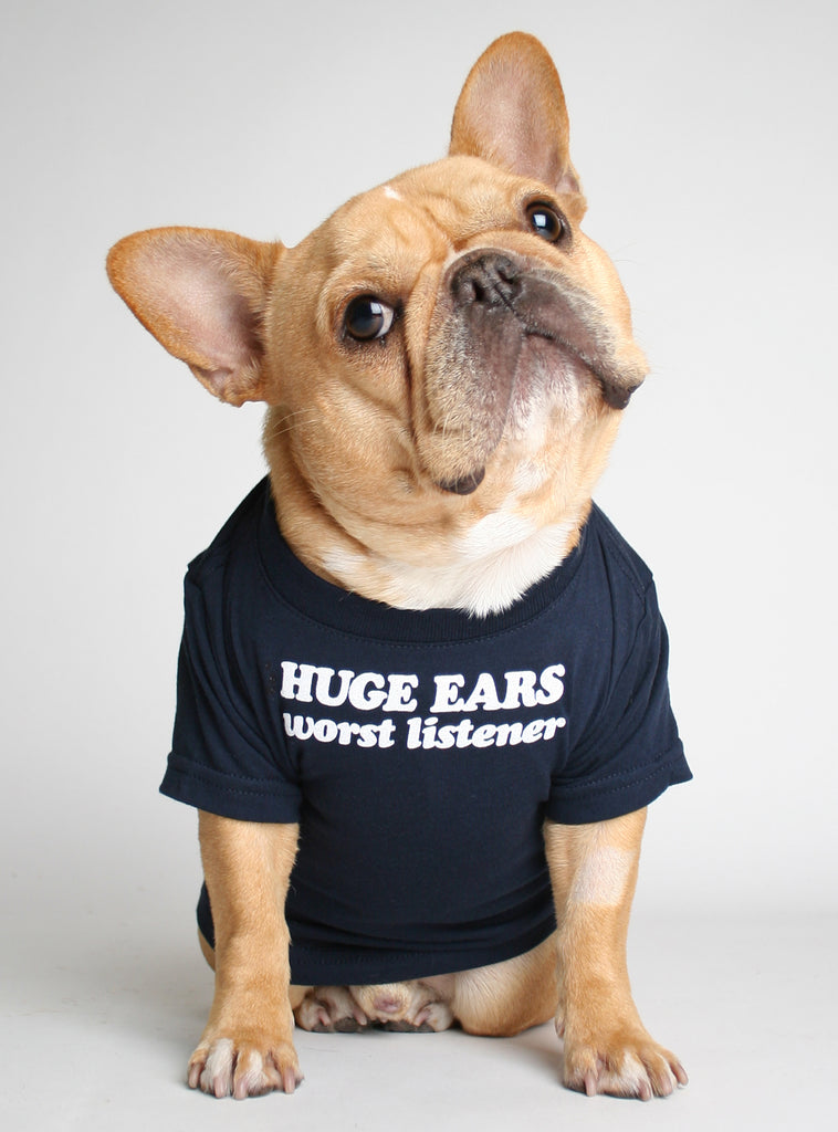 Huge Ears Worst Listener Dog Tee