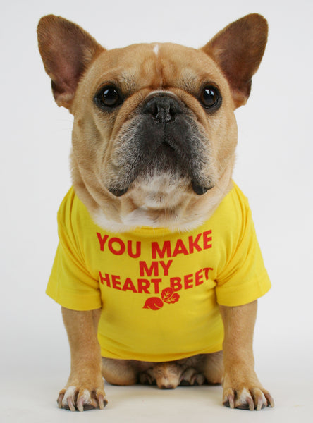 You Make My Heart Beet Dog Tee