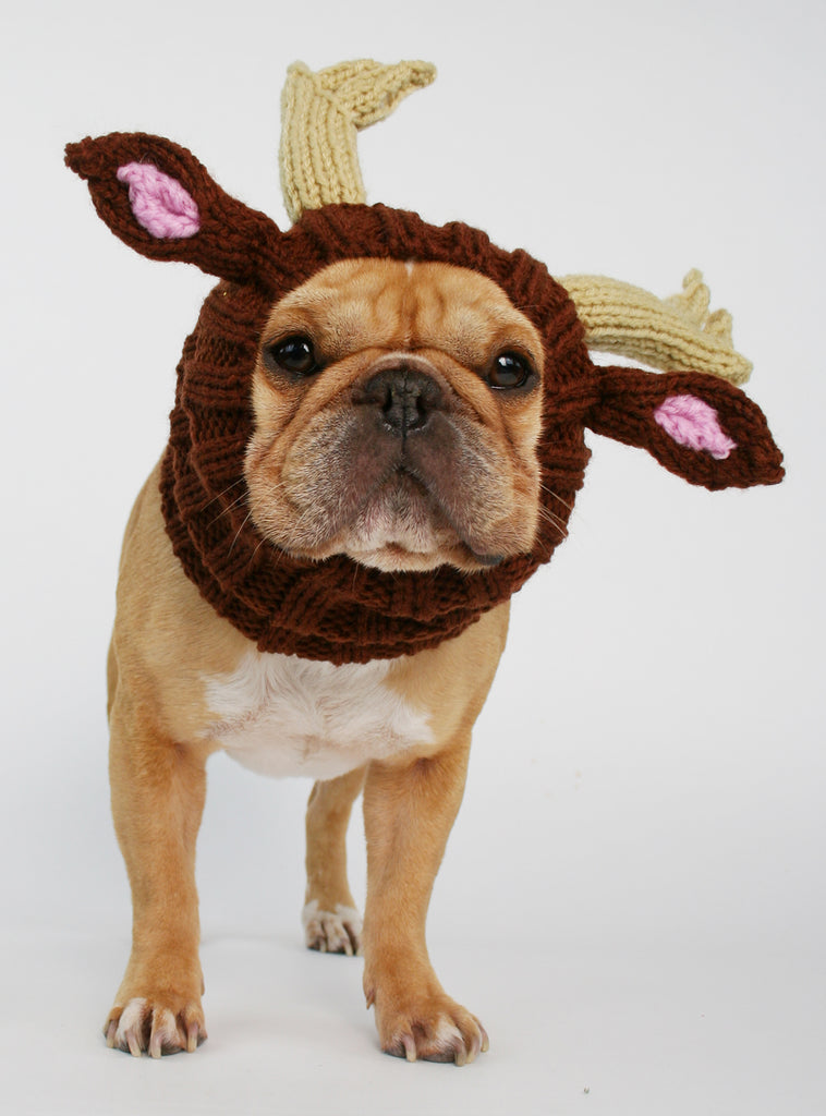 Knit Reindeer Dog Costume