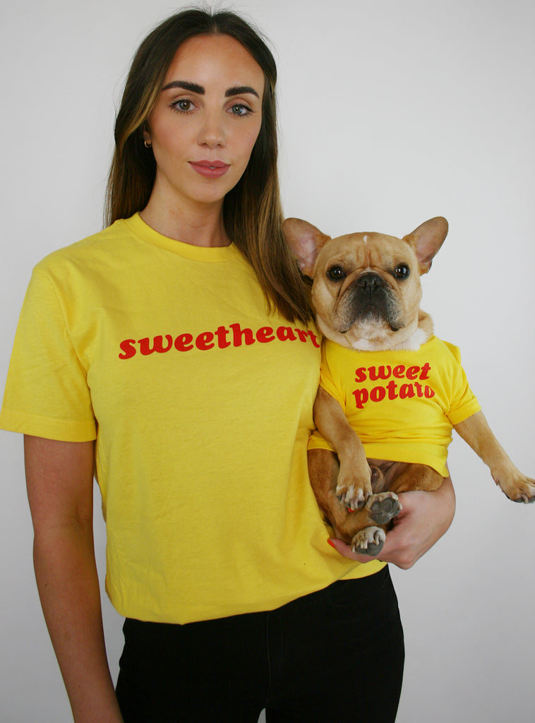 Sweetheart + Sweet Potato Matching T-Shirt Set