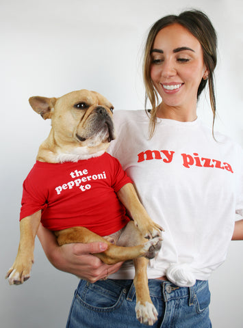 The Pepperoni To My Pizza Matching T-Shirt Set