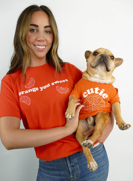 Orange You Sweet Matching T-Shirt Set