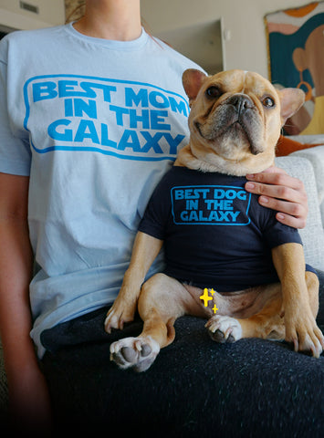 Best Mom + Dog in the Galaxy Matching T-Shirt Set