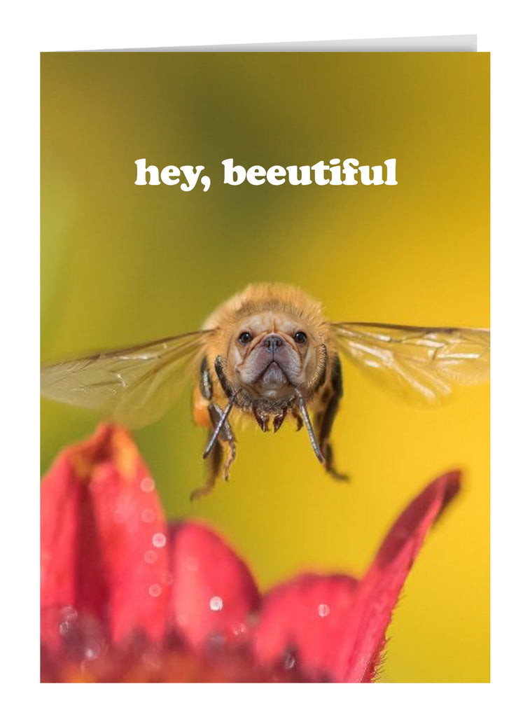 Hey Beeutiful Greeting Card