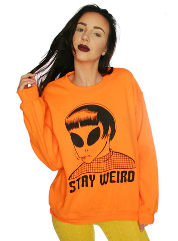 STAY WEIRD PULLOVER