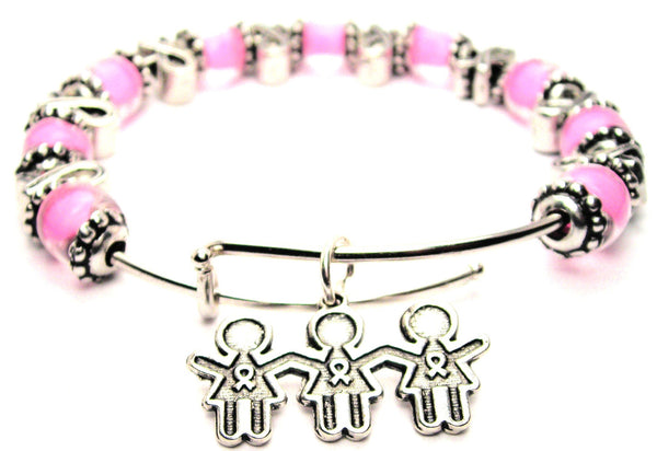 breast cancer bracelet, breast cancer bangles, breast cancer awareness, breast cancer jewelry, breast cancer pink