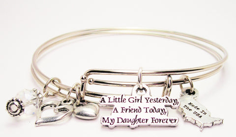 daughter bracelet, daughter bangles, daughter jewelry, family jewelry, expression jewelry