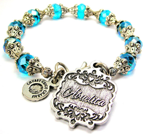 Abuelita Victorian Scroll Capped Crystal Bracelet