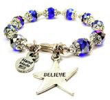 Believe Star Capped Crystal Bracelet