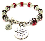 I Love You More And More Capped Crystal Bracelet