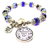 When I Dream I Dream Of You Capped Crystal Bracelet