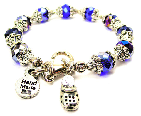 Clog With Holes Capped Crystal Bracelet