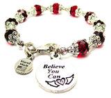 Believe You Can Capped Crystal Bracelet