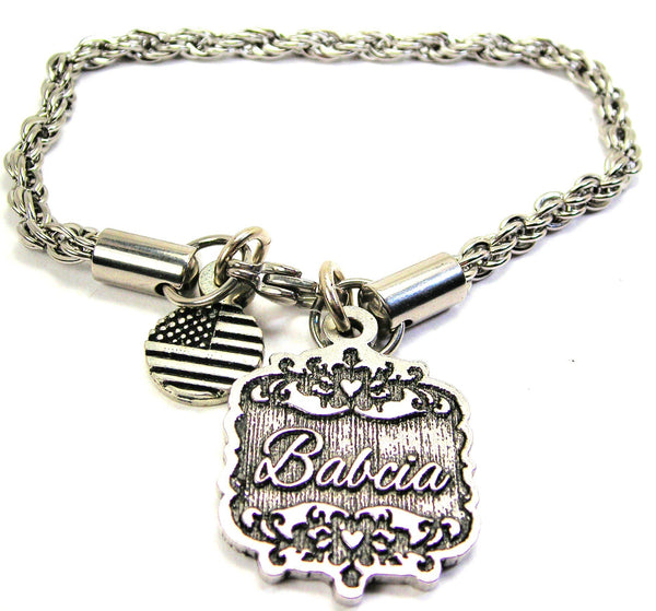 Babcia Victorian Scroll Rope Chain Bracelet