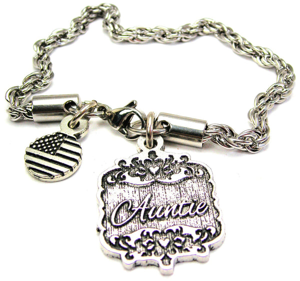 Auntie Victorian Scroll Rope Chain Bracelet