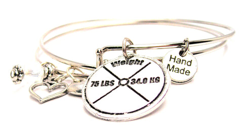 75 Lb Weight Expandable Bangle Bracelet Set