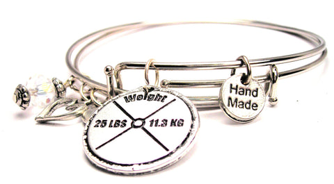 25 Lb Weight Expandable Bangle Bracelet Set