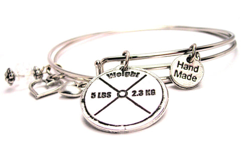5 Lb Weight Expandable Bangle Bracelet Set