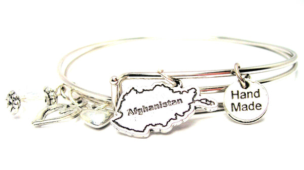 Afghanistan Expandable Bangle Bracelet Set