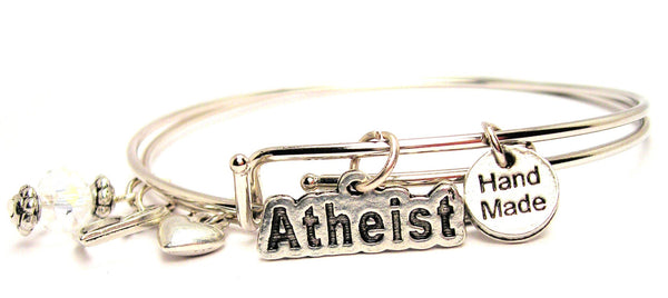 Atheist Expandable Bangle Bracelet Set