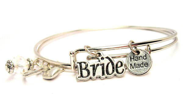 Bride Expandable Bangle Bracelet Set