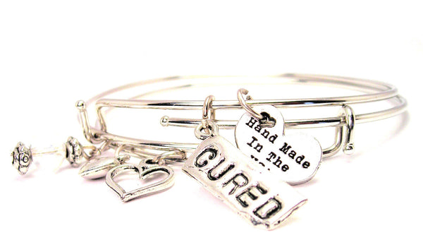Cured Expandable Bangle Bracelet Set