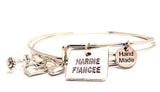 Marine Fiancée Expandable Bangle Bracelet Set