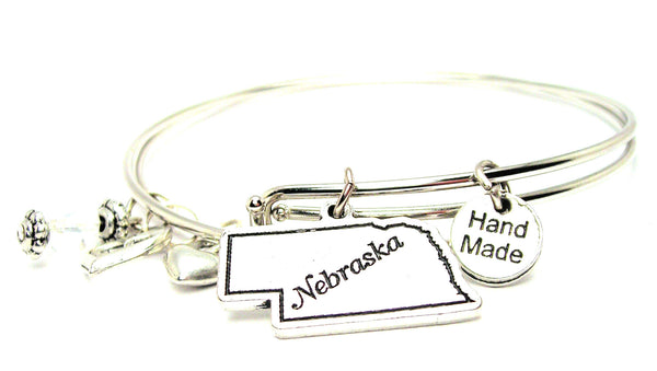 Nebraska Expandable Bangle Bracelet Set