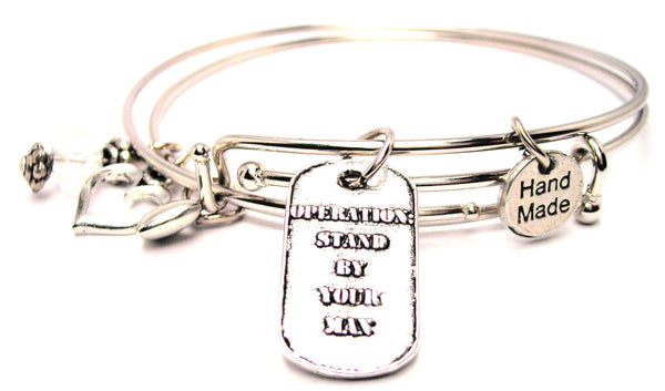 Operation Stand By Your Man Expandable Bangle Bracelet Set
