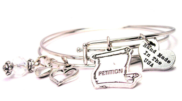 Petition Expandable Bangle Bracelet Set