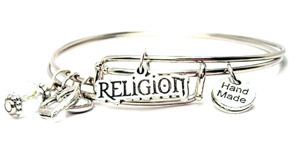 Religion Expandable Bangle Bracelet Set