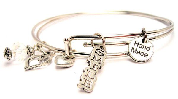 Smile Expandable Bangle Bracelet Set