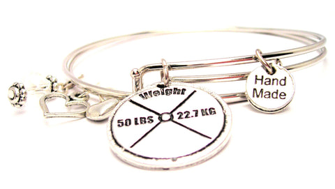 50 Lb Weight Expandable Bangle Bracelet Set