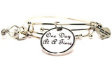 One Day At A Time Expandable Bangle Bracelet Set