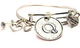 Initial Q Circle Expandable Bangle Bracelet Set