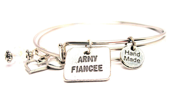 Army Fiancée Expandable Bangle Bracelet Set