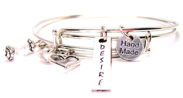 Desire Long Tab Expandable Bangle Bracelet Set