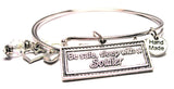 Be Safe Sleep With A Soldier Expandable Bangle Bracelet Set