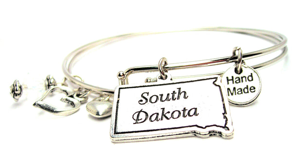 South Dakota Expandable Bangle Bracelet Set