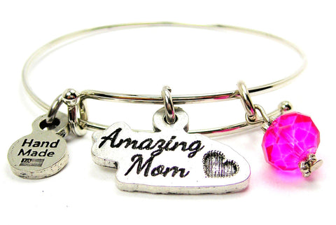 Amazing Mom Expandable Bangle Bracelet