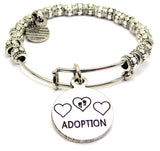 Adoption Metal Beaded Bracelet