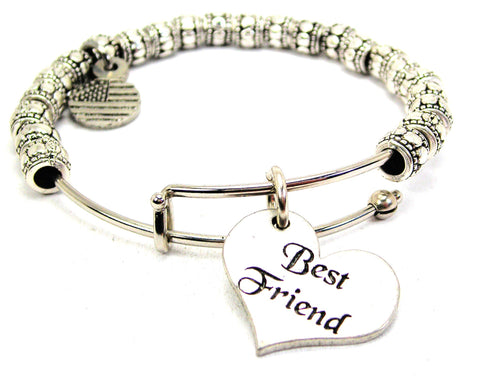 Best Friend Metal Beaded Bracelet